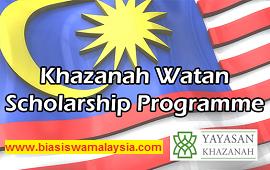 Khazanah Watan Scholarship Programme 2021